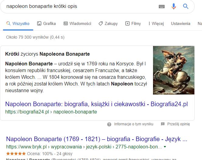 SERP Napoleon Bonaparte
