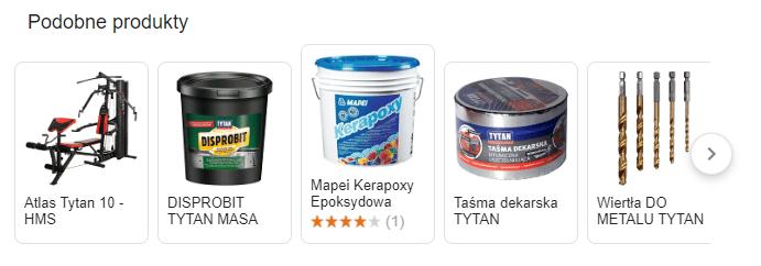 SERP podobne produkty